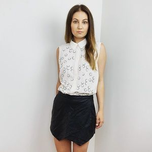 Ann Taylor Ivory Embellished Sleeveless Top